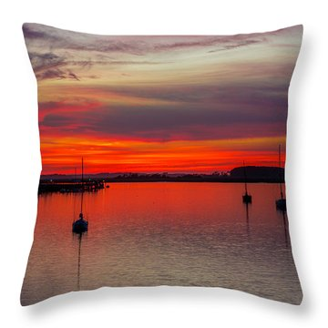 Dusk Throw Pillow by RC Pics