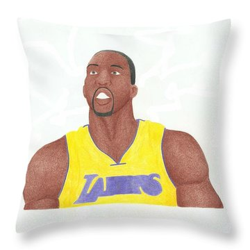 Dwight Howard Throw Pillow by Toni Jaso