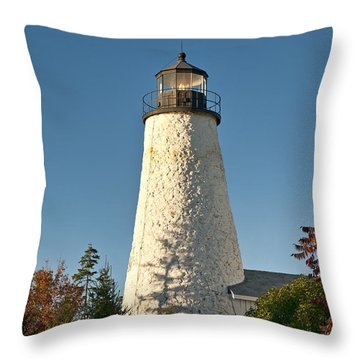 Dyce Head Lighthouse Throw Pillow by John Greim