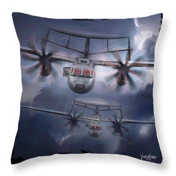 E-2d Hawkeye Throw Pillow