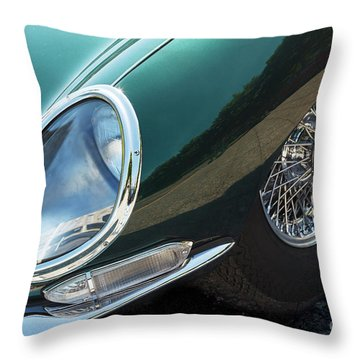 Throw Pillow featuring the photograph E-type by Dennis Hedberg