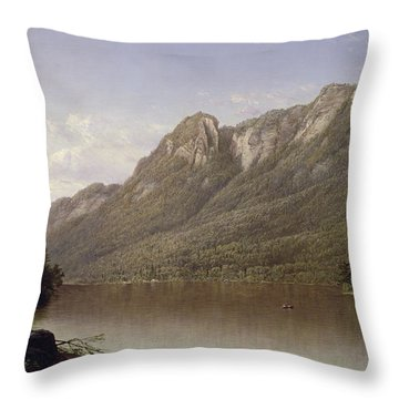 Eagle Cliff At Franconia Notch In New Hampshire Throw Pillow by David Johnson