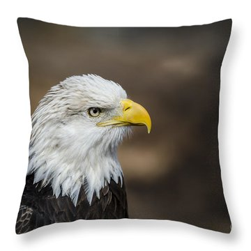 Eagle Profile Throw Pillow