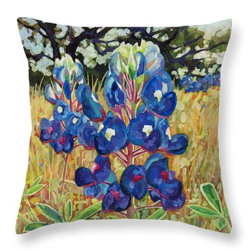 Throw Pillow featuring the painting Early Bloomers by Hailey E Herrera
