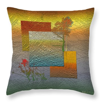 Early Morning In Boreal Forest Throw Pillow by Serge Averbukh