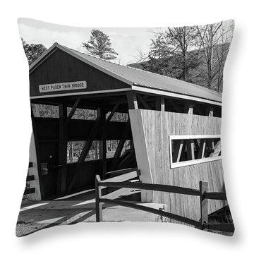 East And West Paden Twin Bridge Throw Pillow