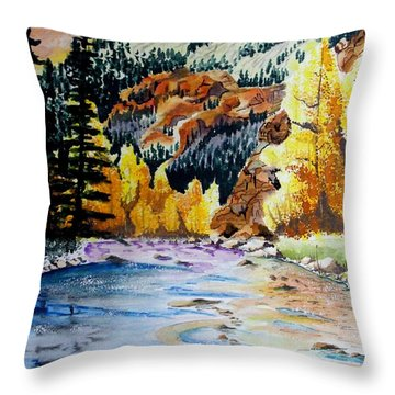 East Clear Creek Throw Pillow by Jimmy Smith