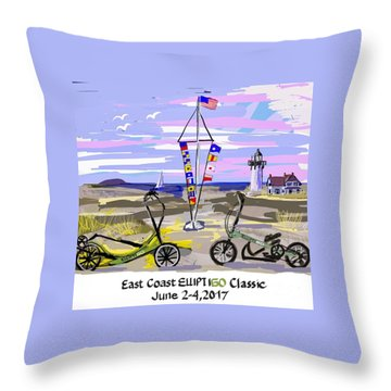 East Coast Elliptigo Classic Throw Pillow