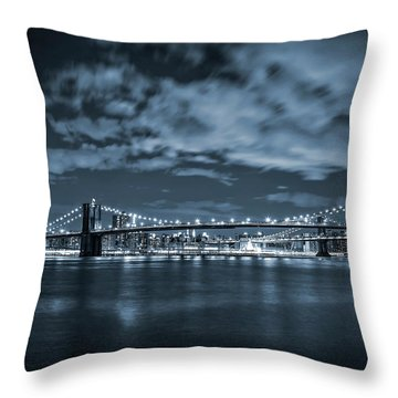 East River View Throw Pillow by Az Jackson