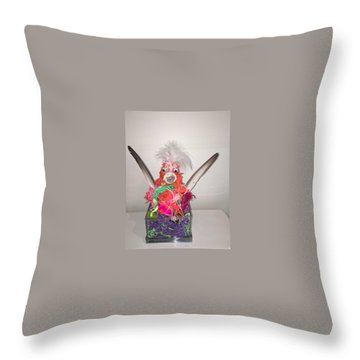 Funky Chicken Throw Pillow