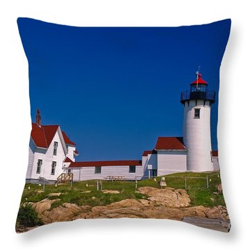 Eastern Point Lighthouse. Gloucester, Ma. Throw Pillow