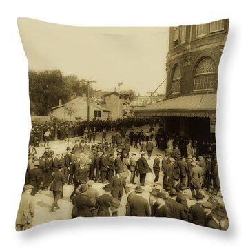Ebbets Field Crowd 1920 Throw Pillow