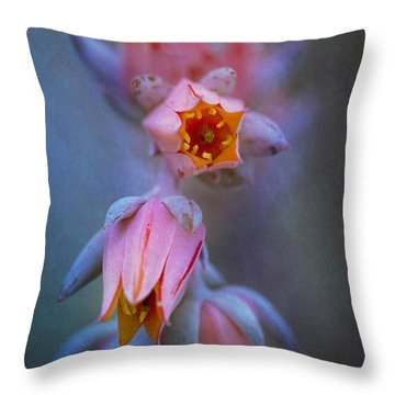 Echeveria Flowers Throw Pillow