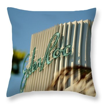 Eden Roc Hotel Miami Beach Throw Pillow