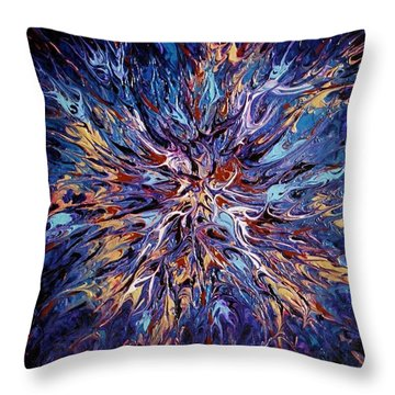 Throw Pillow featuring the painting Edge Of The Universe by Pat Purdy