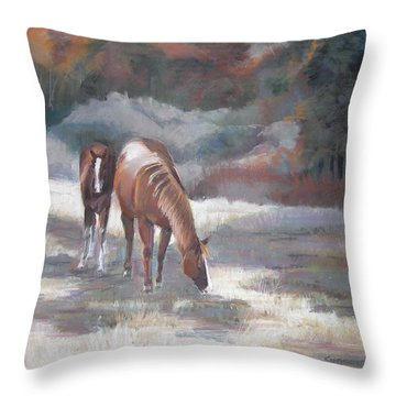 Edge Of The Woods Throw Pillow