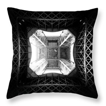 Throw Pillow featuring the photograph Eiffel Tower by Dave Beckerman