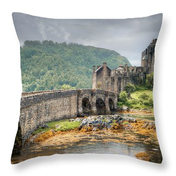 Eilean Donan Castle Throw Pillow by Ray Devlin