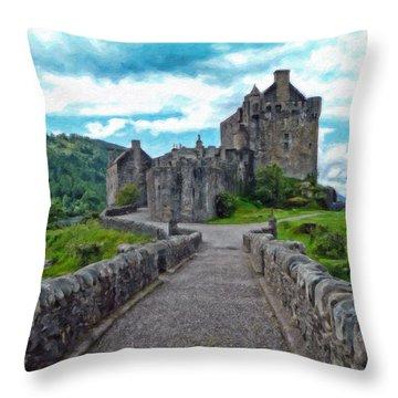 Eilean Donan Castle - -sct665549 Throw Pillow