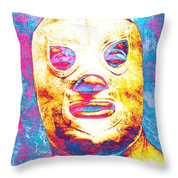 El Santo  Throw Pillow by J- J- Espinoza