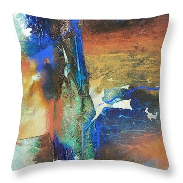 Electric And Warm Throw Pillow by Becky Chappell