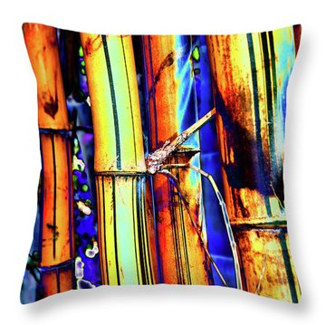 Electric Bamboo 1 Throw Pillow