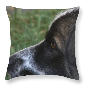 Eliza Throw Pillow by Rhonda McDougall