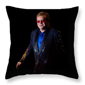 Throw Pillow featuring the photograph Elton John by Chris Cousins
