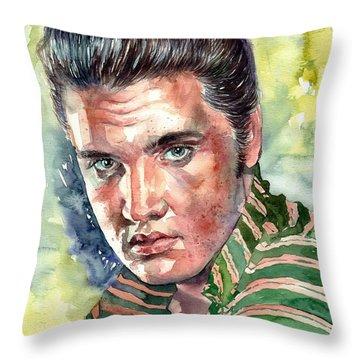 Elvis Presley Portrait Throw Pillow