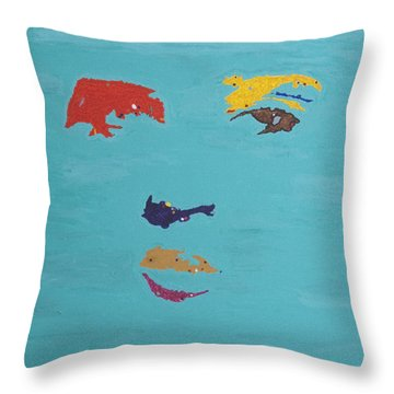 Elvis In The Sky Throw Pillow