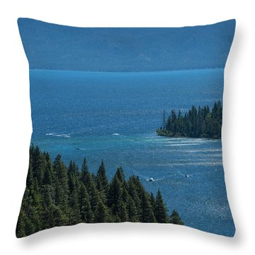 Emerald Bay Channel Throw Pillow