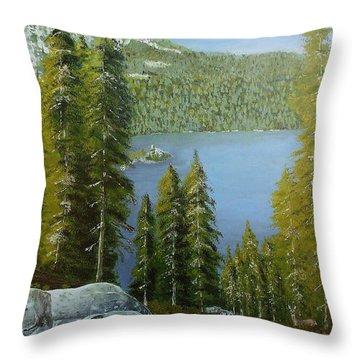 Emerald Bay - Lake Tahoe Throw Pillow
