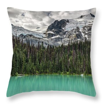 Emerald Reflection Throw Pillow