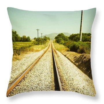 Empty Railway Throw Pillow