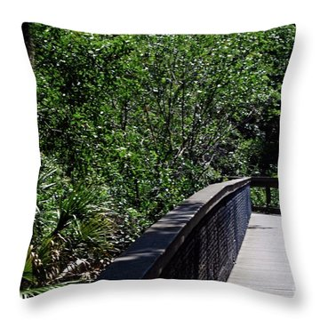 Throw Pillow featuring the photograph Enchanted Walk by Gary Wonning