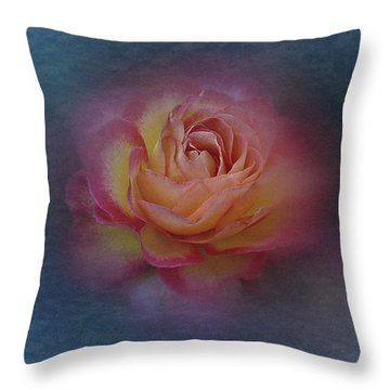 Throw Pillow featuring the photograph End Of September 2016 Rose by Richard Cummings