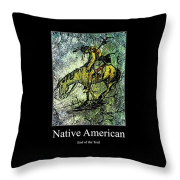 End Of The Trail 1 Throw Pillow by Ayasha Loya