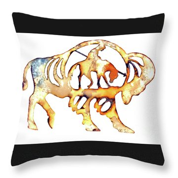 Throw Pillow featuring the photograph End Of The Trail by Larry Campbell