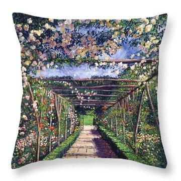English Rose Trellis Throw Pillow