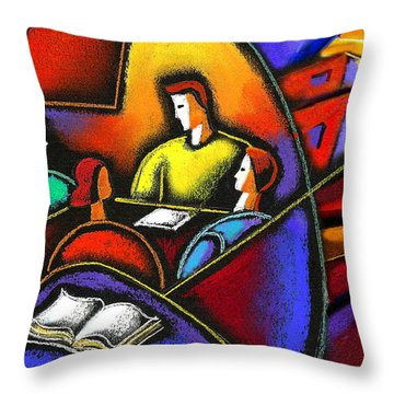 Throw Pillow featuring the painting Enterprise by Leon Zernitsky
