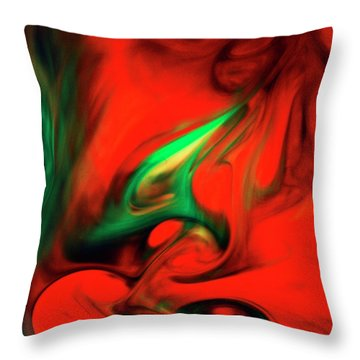 Envy Feeding On Itself Throw Pillow
