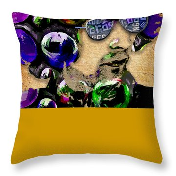Eric Clapton Cream Collection Throw Pillow by Marvin Blaine