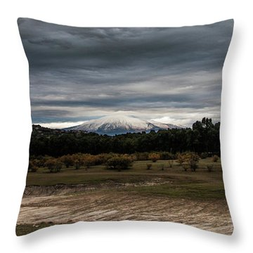 Etna, The West Side Throw Pillow
