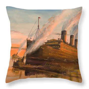 Evening Departure Throw Pillow by Christopher Jenkins