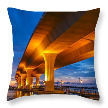 Throw Pillow featuring the photograph Evening On The Boardwalk by Tom Claud