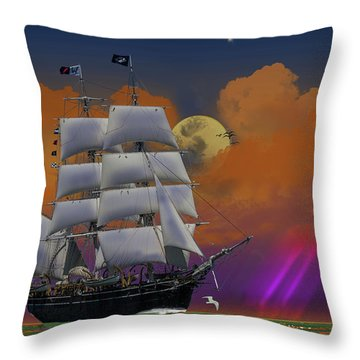 Evening Return For The Elissa Throw Pillow by J Griff Griffin