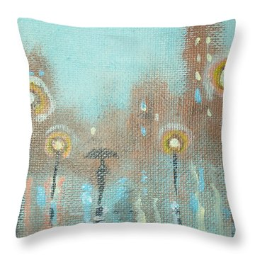 Evening Stroll Throw Pillow by Raymond Doward
