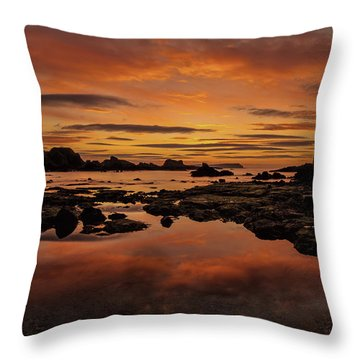 Evenings End Throw Pillow by Roy McPeak