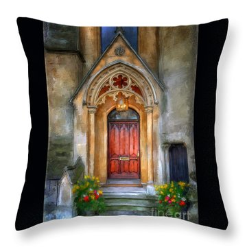 Evensong Throw Pillow by Lois Bryan