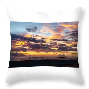 Key West Sunrise Throw Pillow
